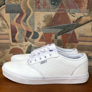 Vans Atwood Mens Perf Leather White Shoe Size 9.5